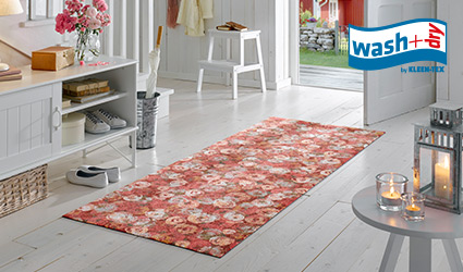 wash+dry Decor mat with retro design