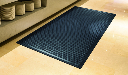 Kushion-Koil - Kushion-Koil mat in a professional kitchen