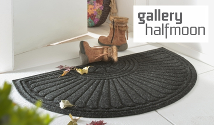 Gallery Halfmoon moulded mat on doorstep